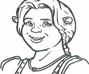 Coloring pages Shrek: Fiona