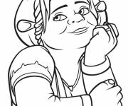 Coloring pages Shrek: Fiona dreaming