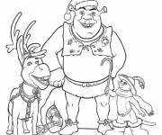 Coloring pages Shrek in Christmas