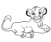 Coloring pages Easy Lion King Drawing