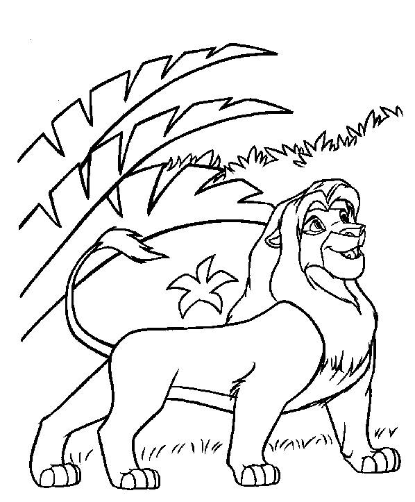 Free coloring and drawings Simba adult Coloring page