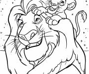 Coloring pages Simba and the lion king