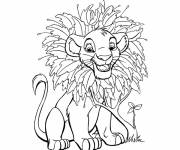 Coloring pages Simba baby online