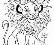 Coloring pages Simba easy
