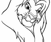 Coloring pages Simba the lion king
