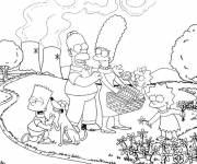 Coloring pages Simpson family online