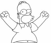 Free coloring and drawings Simpson Homer online Coloring page