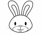 Coloring pages Rabbit head
