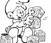 Coloring pages Baby smurf