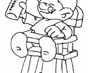 Free coloring and drawings Baby smurf online Coloring page