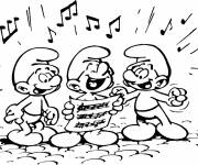 Coloring pages Musician smurf