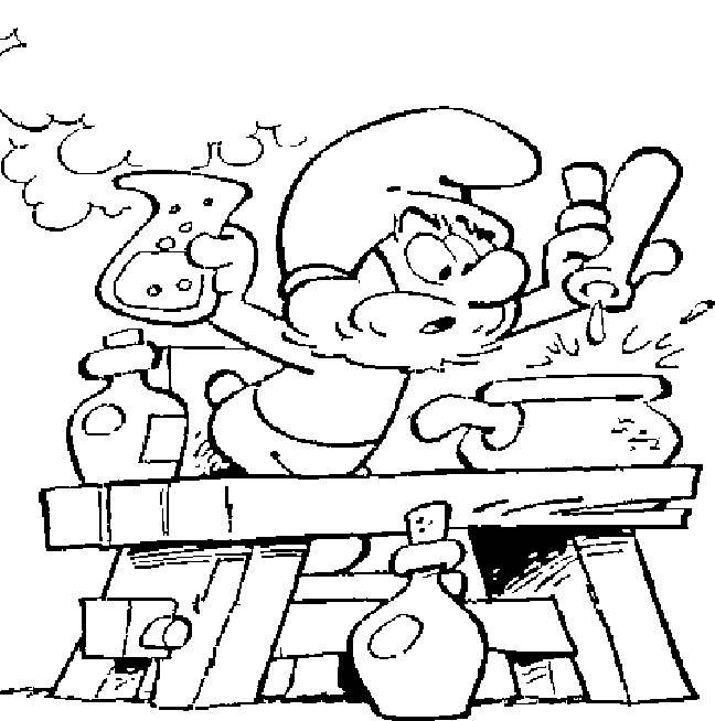 Free coloring and drawings Papa smurf Coloring page