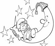 Coloring pages Smurf getting ready to sleep