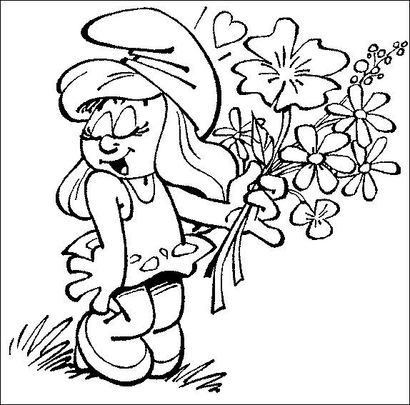 Free coloring and drawings Smurf to print Coloring page