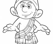Free coloring and drawings Smurf to print online Coloring page