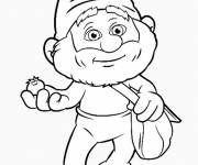 Coloring pages The chef smurf free to color