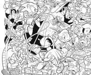 Coloring pages Sonic free online