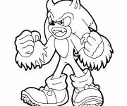 Coloring pages Sonic Kaijufreak