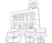 Coloring pages Children in south park drawing
