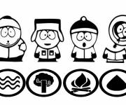 Coloring pages Easy south park