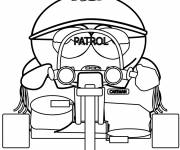 Coloring pages Eric drives his motorcycle in color