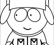 Coloring pages Kyle looks right in color