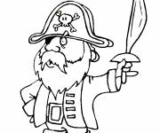 Coloring pages Speedy Gonzales the pirate