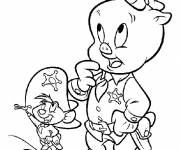 Free coloring and drawings Speedy Gonzales The Sheriff Coloring page