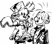 Coloring pages Spirou boy
