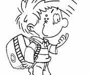 Coloring pages Spirou cartoon character
