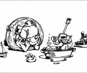 Coloring pages Spirou coloring drawing