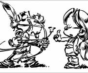 Coloring pages Spirou humor