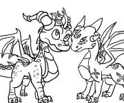 Coloring pages Spyro for kids