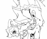 Coloring pages Spyro the dragon for children