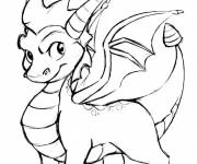 Coloring pages Spyro  the funny dragon