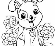 Coloring pages Dog strawberry