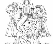 Coloring pages Strawberry in front of her castle