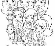Coloring pages strawberry shortcake and her friends