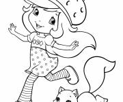 Coloring pages strawberry shortcake having fun