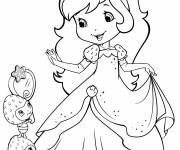Coloring pages strawberry shortcake looks at herself in the mirror