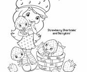 Coloring pages strawberry shortcake smiles online