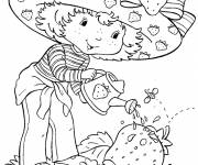 Coloring pages strawberry shortcake sprinkles its garden