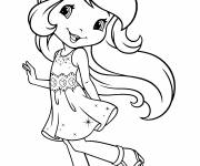Coloring pages The beautiful strawberry shortcake