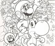 Coloring pages All Mario characters