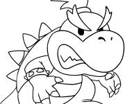 Coloring pages Bowser Jounior