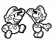 Coloring pages Mario bros for kids