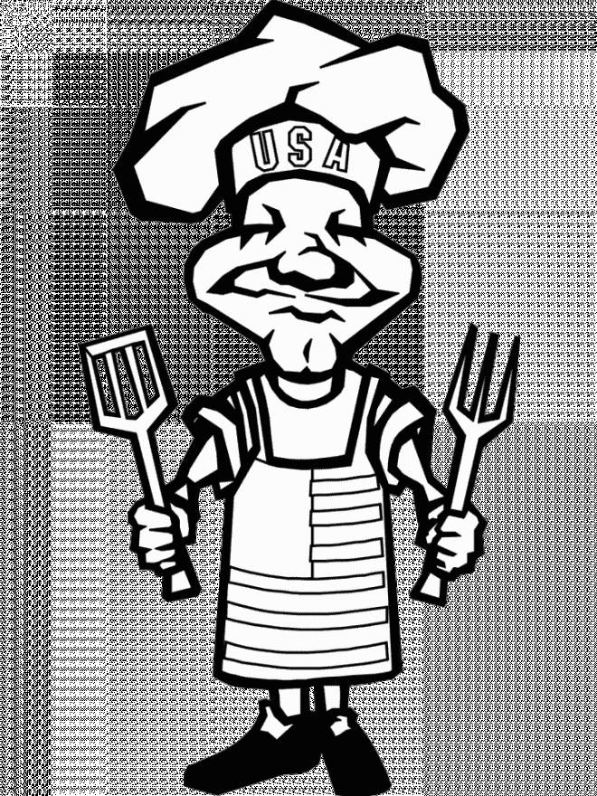 Free coloring and drawings A free drawing cook Coloring page