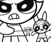 Free coloring and drawings The Powerpuff Girls in color Coloring page