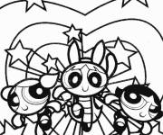 Coloring pages The Powerpuff Girls portrait for coloring