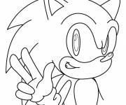 Coloring pages Sonic simple